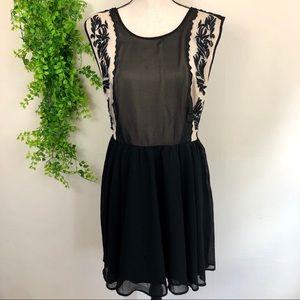 Urban Outfitters Black Sleeveless Open Back Dress